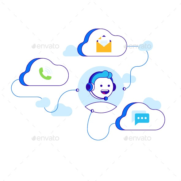 Contact Us Illustration - Concepts Business