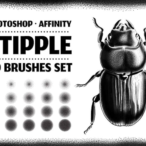 20 Stipple Photoshop Brushes