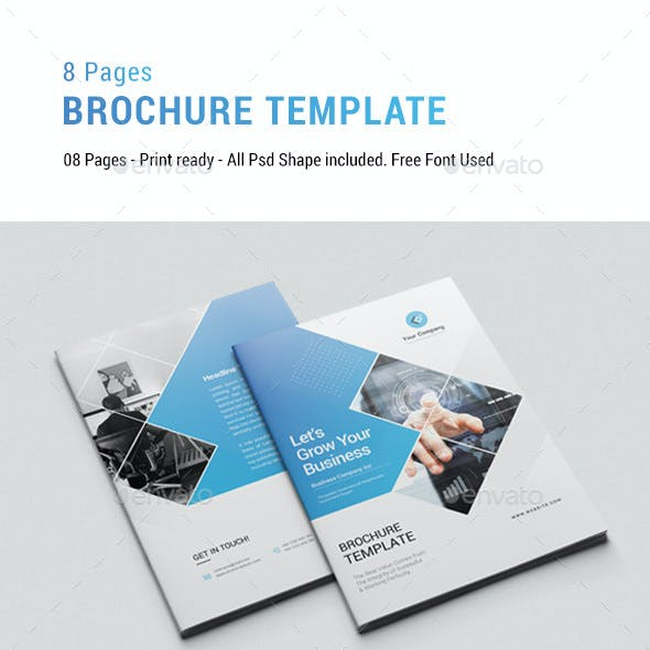 8 Pages Brochure Template