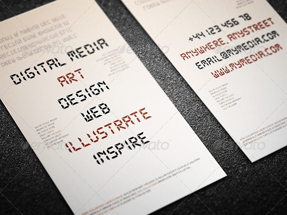 Digital Media Business Card - Creative Business Cards