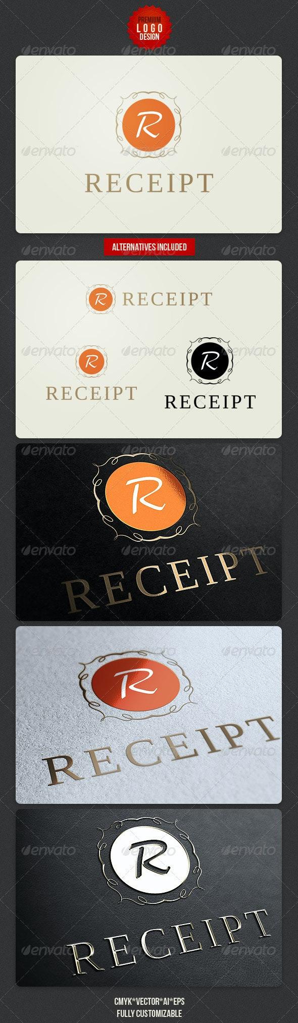 Receipt Retro Logo Design - Letters Logo Templates
