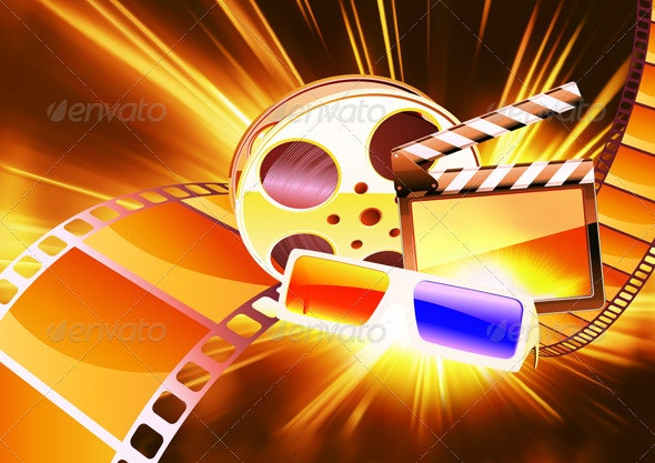 Abstract cinema background - Backgrounds Decorative