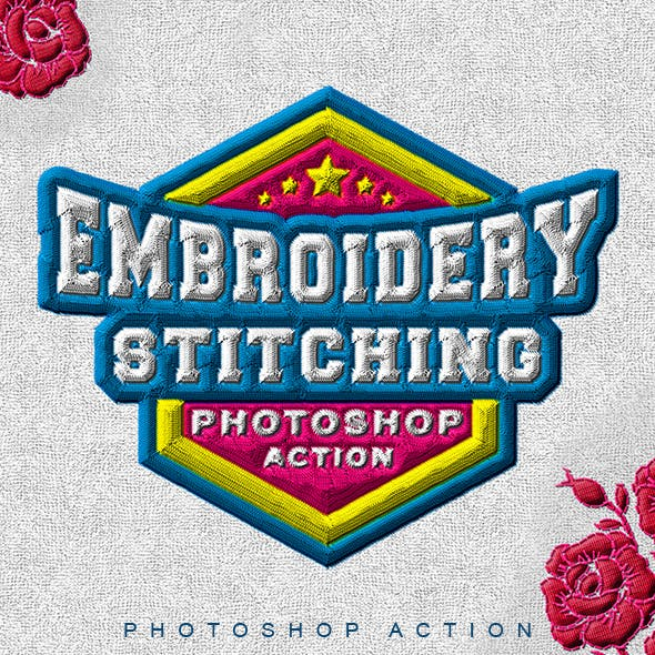 Embroidery Stitching Photoshop Action