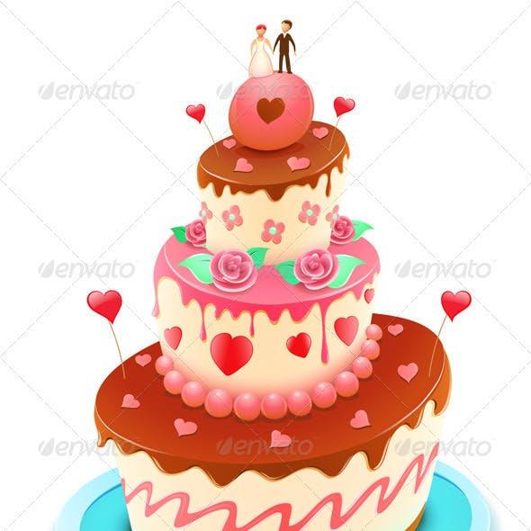 Wedding tiered cake