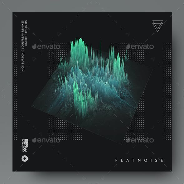 Flatnoise – Minimal Album Cover Artwork / Video Thumbnail Template