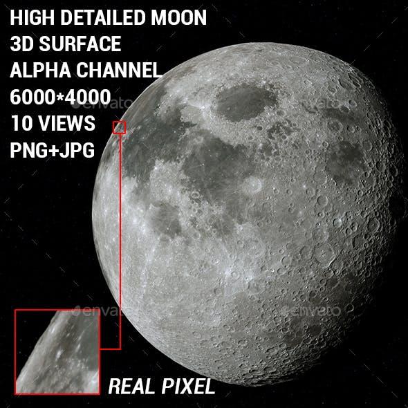 High Detailed Moon