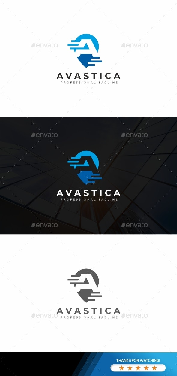 Avastica-A Letter Logo - Letters Logo Templates