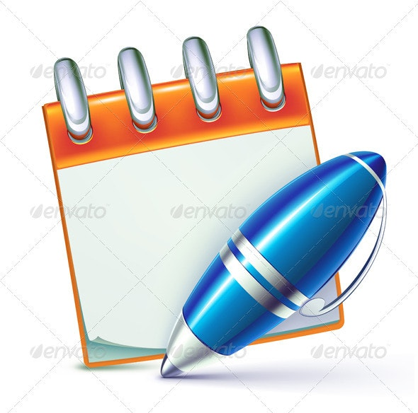Elegant ballpoint pen - Objects Vectors