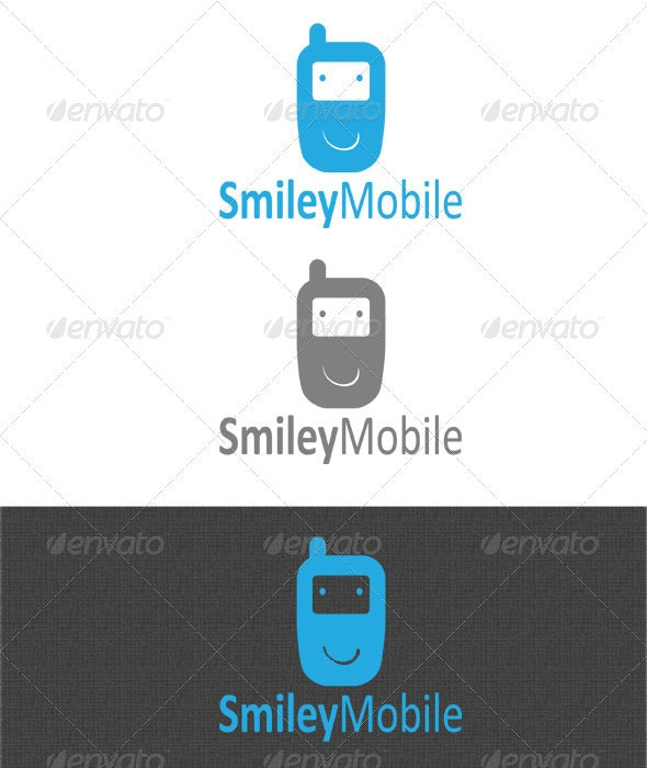 Smiley Mobile Logo - Objects Logo Templates