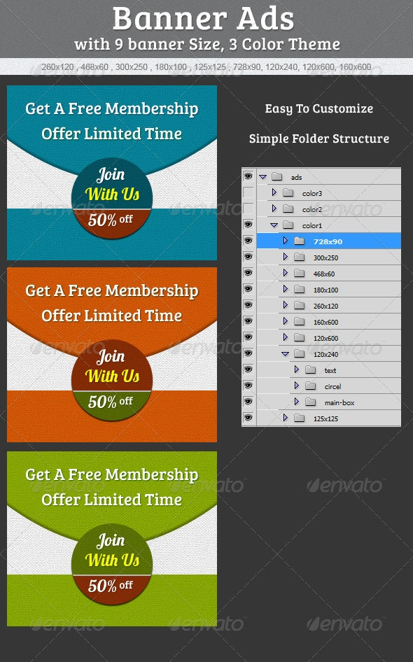 Web Banner Ads - Banners & Ads Web Elements