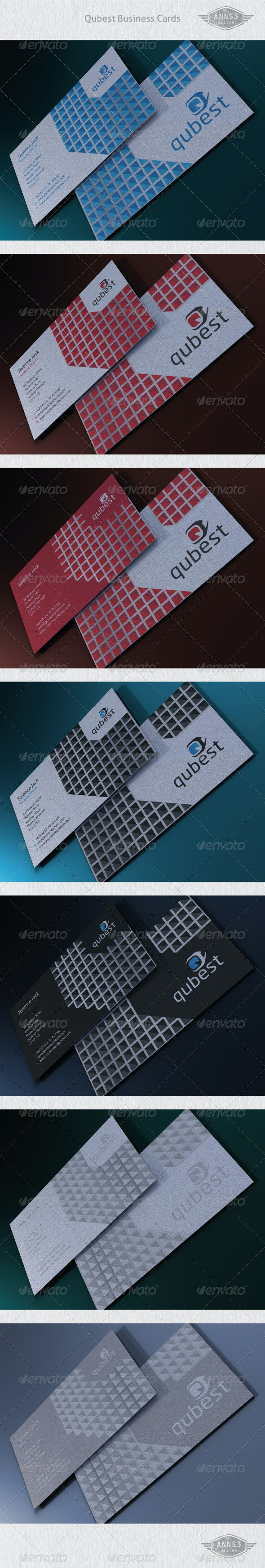 Qubestr Business Card Package - Corporate Business Cards