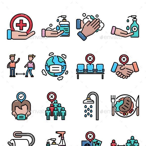 16 Virus Prevention Icon