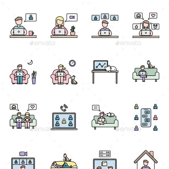 16 Work From Home Icon