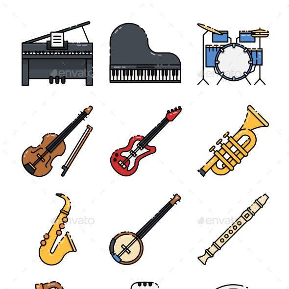 16 Music Instrument Icon