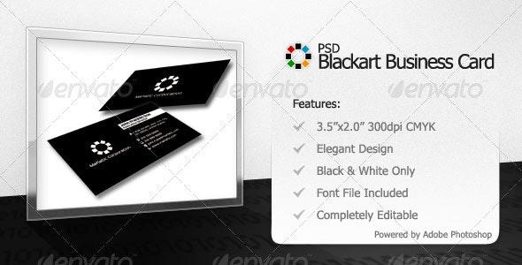 Blackart Business Card - Corporate Business Cards