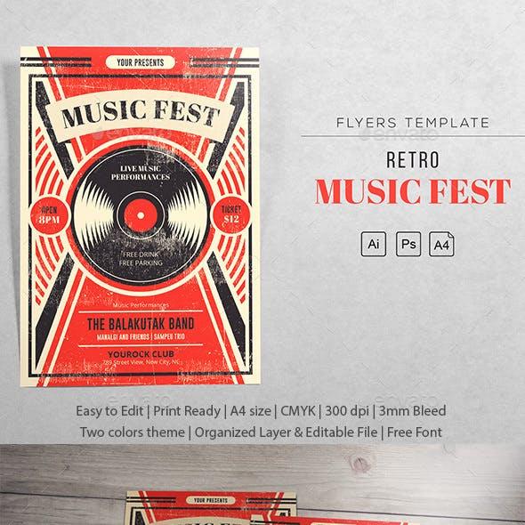 Music Fest Retro - Vinyl Template