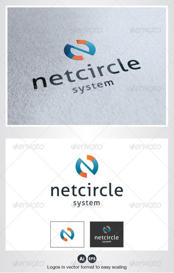 Net Circle Logo - Letters Logo Templates
