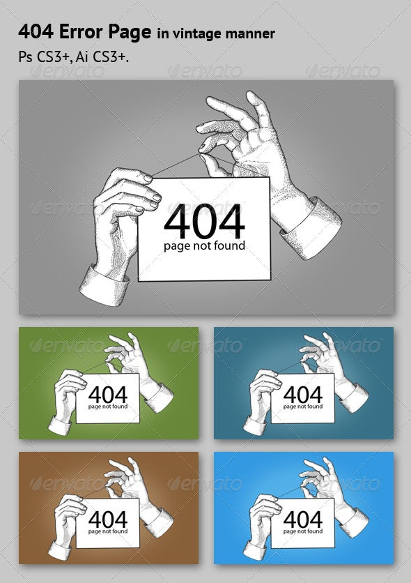 Error Page Sign - 404 Pages Web Elements