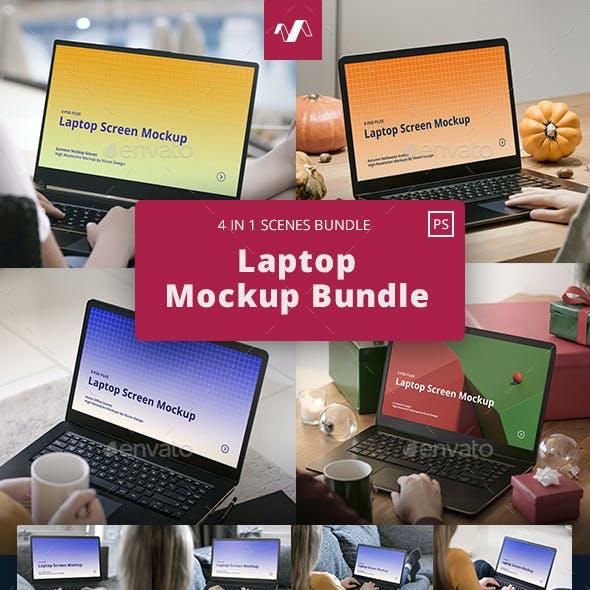 Laptop Mockup Scenes Bundle