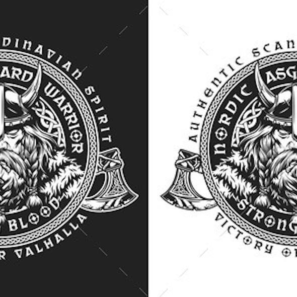 Viking Vintage Round Emblem