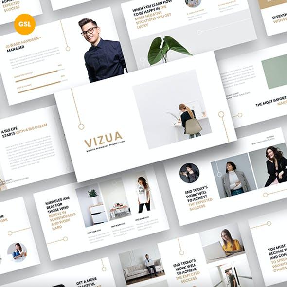 Vizua – Minimalist Business Google Slides Template