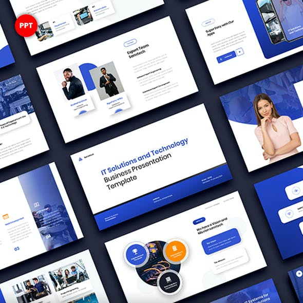 IT Solutions & Technology PowerPoint Template