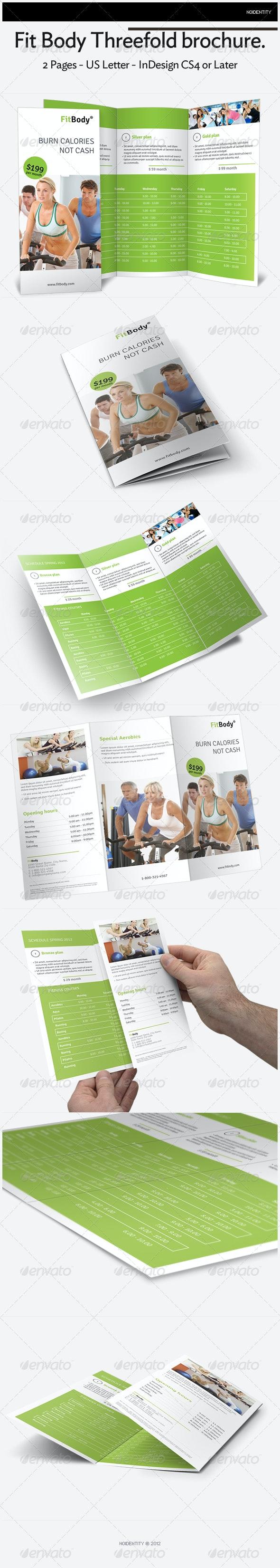 Fit Body Threefold brochure - Brochures Print Templates
