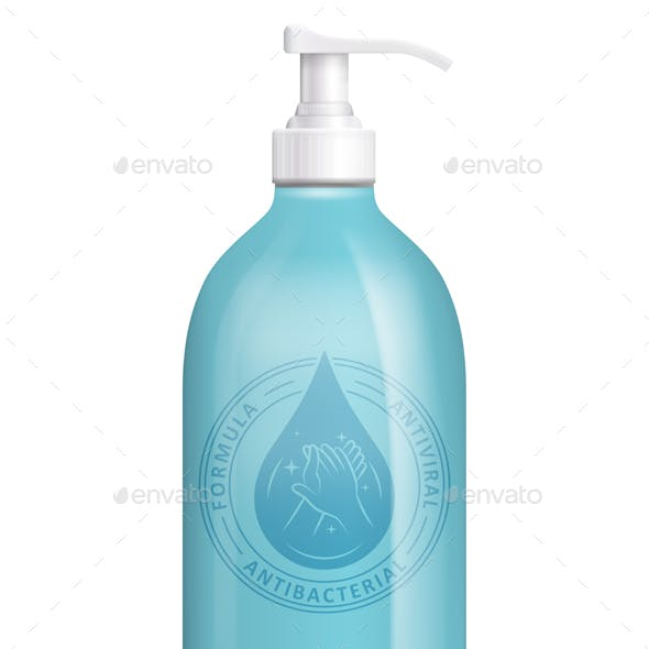 Hand Sanitizer Bottle Container