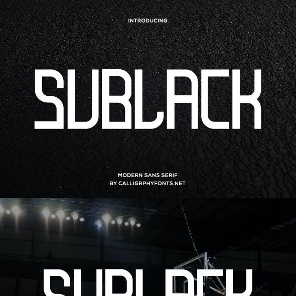 Sublack Sans Serif Font