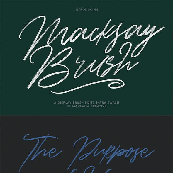Macksay Display Brush Font Extra Swash