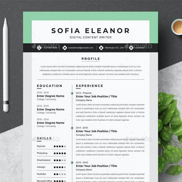 Digital Content Writer Resume
