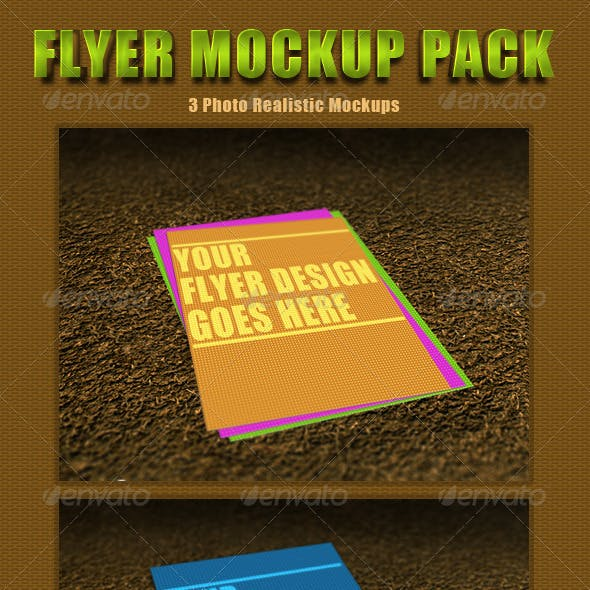 Photorealistic Flyer Mockup Pack 1