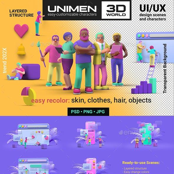 UNIMEN 3D UI/UX Design Scene creator