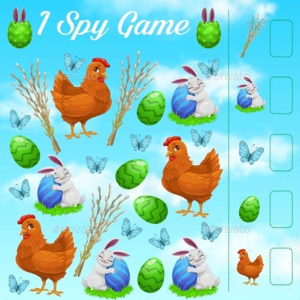 I Spy Kids Game Easter Rabbits Eggs Butterflies