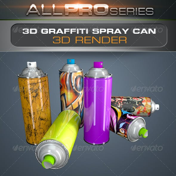 3D Spray Can Render