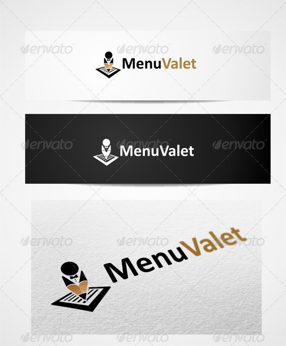 Logo Menu Valet - Humans Logo Templates