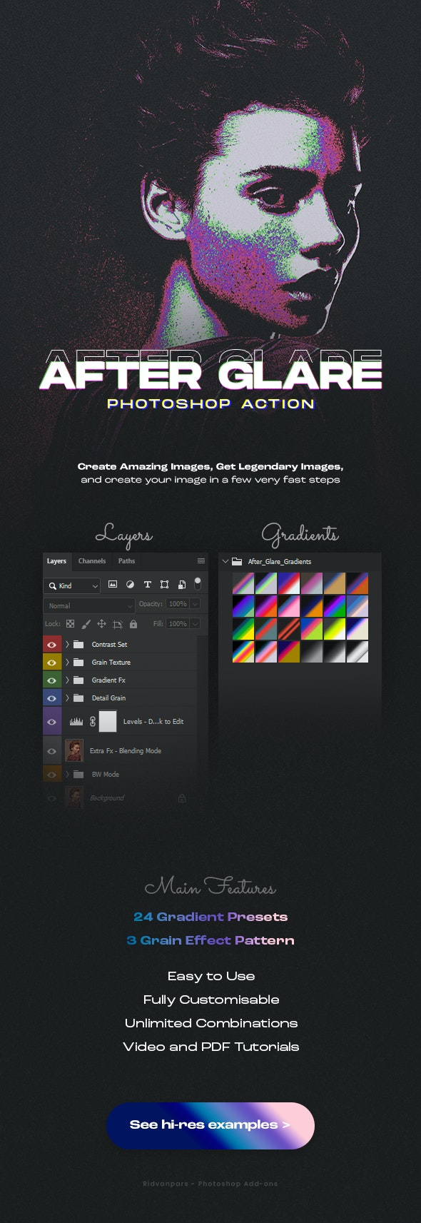 After Glare Photoshop Action - Photo Effects Actions