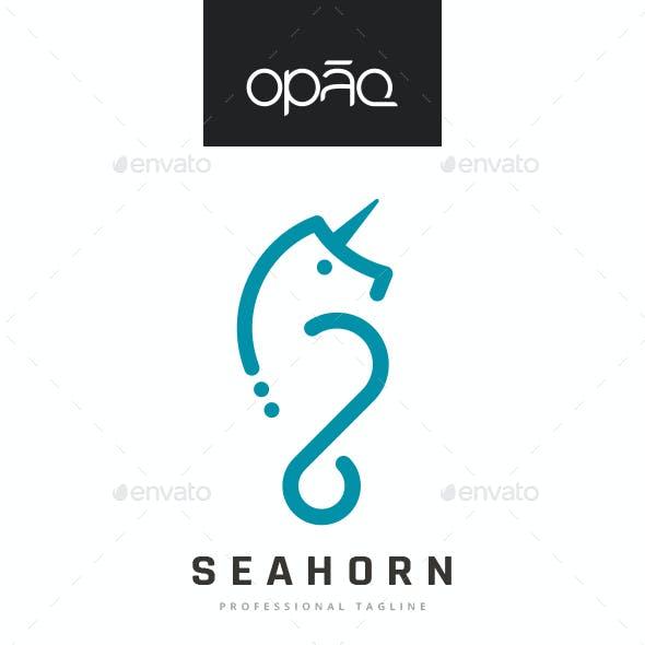 Sea Horse Unicorn Logo