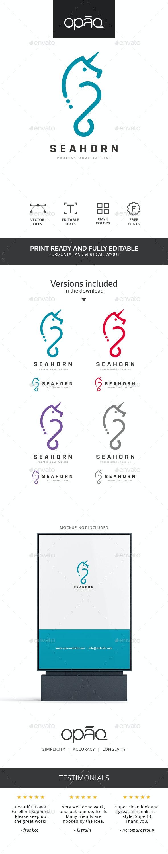Sea Horse Unicorn Logo - Animals Logo Templates