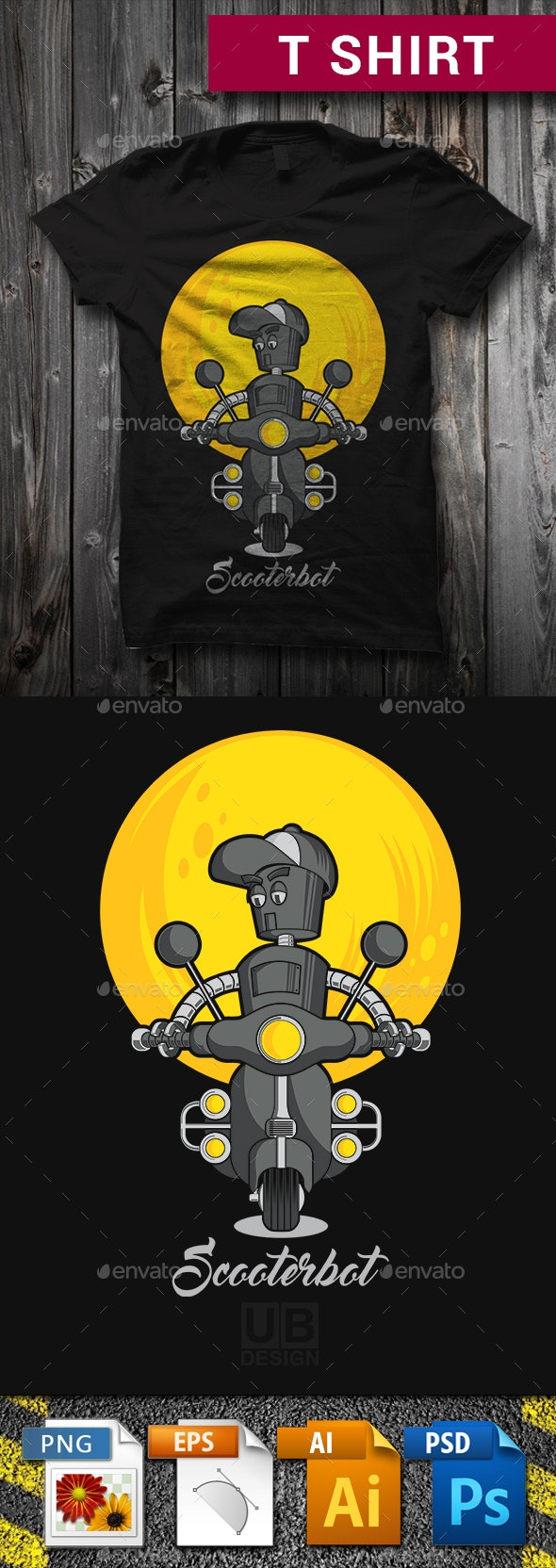 Scooterbot T-Shirt Graphic Design - T-Shirts