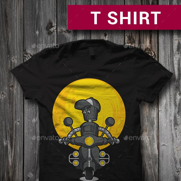 Scooterbot T-Shirt Graphic Design