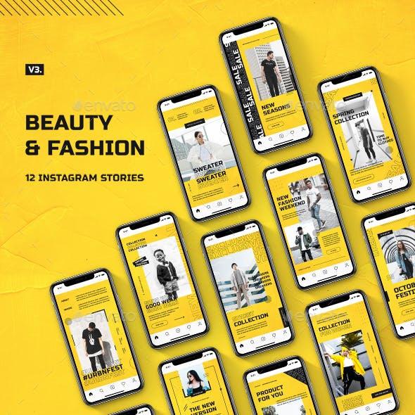 Beauty & Fashion Instagram Stories v.3