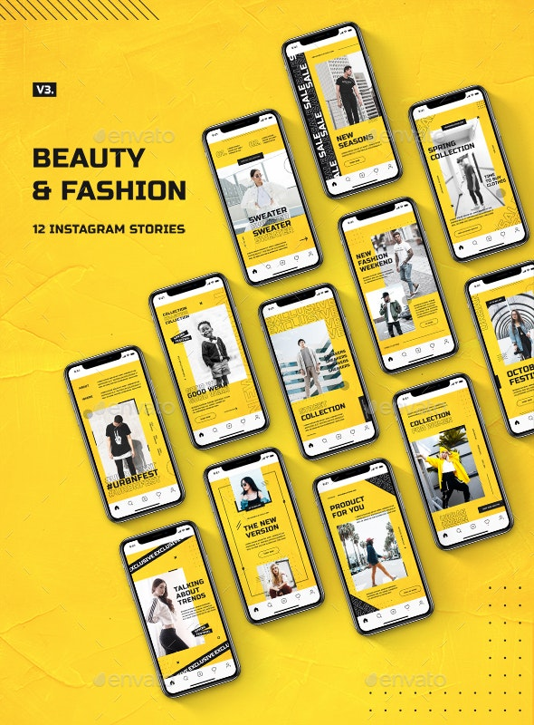 Beauty & Fashion Instagram Stories v.3 - Miscellaneous Web Elements