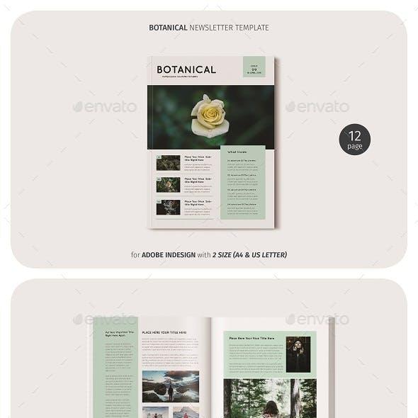 Botanical Newsletter Template