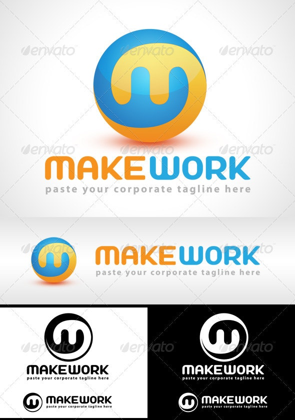 Make Work Logo - Letters Logo Templates