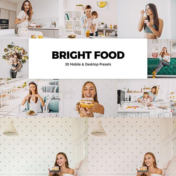 20 Bright Food Lightroom Presets & LUTs