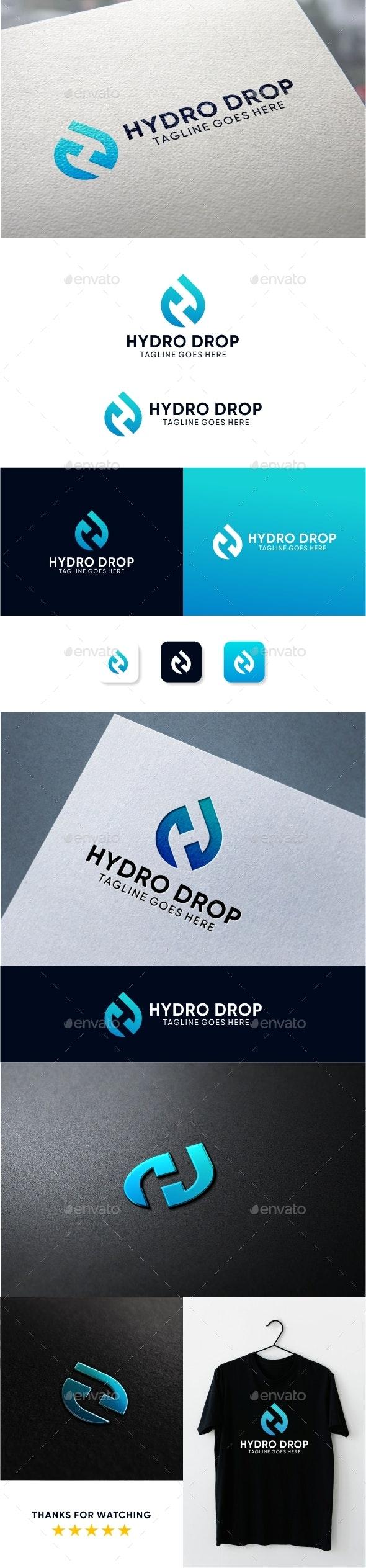 Drop Letter H Logo - Letters Logo Templates