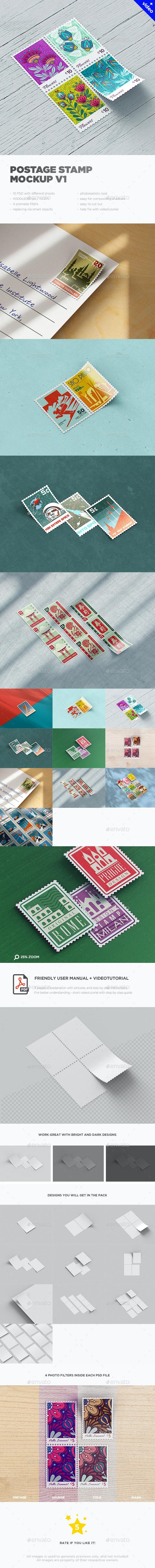 Postage Stamp MockUp v1 - Miscellaneous Print