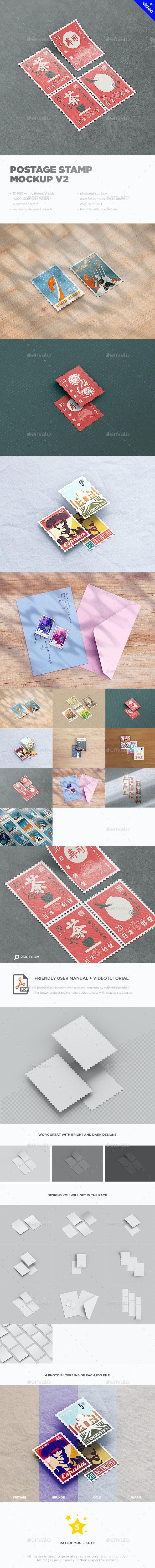 Postage Stamp MockUp v2 - Miscellaneous Print