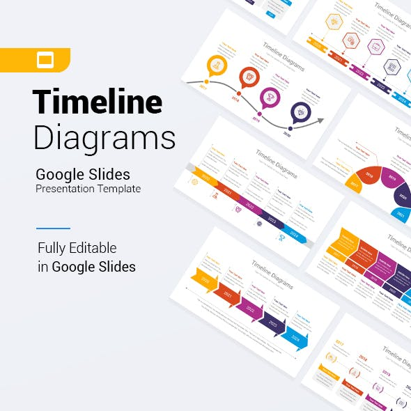 Timeline Diagrams Google Slides Template